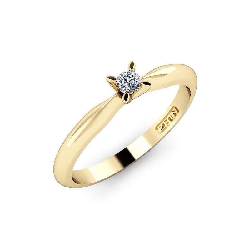 Zaručnički-prsten-MODEL-178-ŽUTO-3PHS